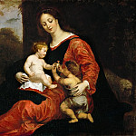 Kunsthistorisches Museum - Gerard Seghers (1591-1651) -- Virgin and Child with Saint John and a Goldfinch