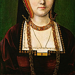 Michael Sittow -- Portrait of a Lady, identified as Catherine of Aragon , Kunsthistorisches Museum