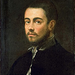 Jacopo Tintoretto -- Young Man with a Beard, Kunsthistorisches Museum