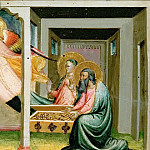 Bicci di Lorenzo -- Scenes from the Story of Tobias: Tobias marries Sarah; the Archangel Raphael leaves Tobias and his wife Anna, Kunsthistorisches Museum