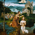 Kunsthistorisches Museum - Joachim Patinir (c. 1480-before 1524) -- Baptism of Christ