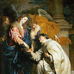 Kunsthistorisches Museum - Anthony van Dyck -- Mystic Marriage of the Blessed Hermann Joseph (Engagement of the Beatified Hermann Joseph with the Virgin Mary)