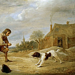 David Teniers II -- Farmboy with a Dog, Kunsthistorisches Museum