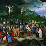 Brueghel, Jan The Elder -- Распятие. ок1595. 26х35., Kunsthistorisches Museum