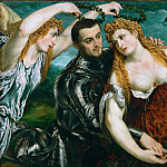 Kunsthistorisches Museum - Paris Bordone (1500-1571) -- Venus, Mars, and Cupid Crowned by Victory