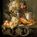 Jan van den Hecke the Elder -- Still Life with Fruits, Kunsthistorisches Museum