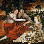 Kunsthistorisches Museum - Jan Massys -- Lot and his daughters