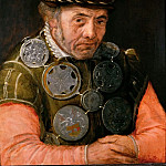 Frans Floris the elder -- Messenger of the Rhetoricians Guild, Kunsthistorisches Museum