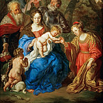 Kunsthistorisches Museum - Joachim von Sandrart I (1606-1688) -- Mystic Marriage of Saint Catherine with Saints Leopold and William