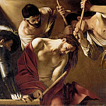 Michelangelo Merisi da Caravaggio -- The Crowning with Thorns, Kunsthistorisches Museum