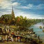 Kunsthistorisches Museum - Brueghel, Jan The Elder (1568-1625) -- Деревенская ярмарка. 1614. 52х90.