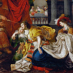 Kunsthistorisches Museum - Kaspar van den Hoecke (active 1595-after 1648) -- Esther Before Ahasuerus
