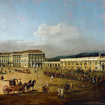 Kunsthistorisches Museum - Bernardo Bellotto (1721-1780) -- Schönbrunn Palace in Vienna, as Seen from the Courtyard