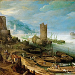 Kunsthistorisches Museum - Paul Bril (1554-1626) -- River Landscape with Ruined Tower