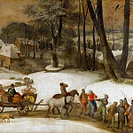 Kunsthistorisches Museum - Gillis Mostaert -- Military expedition in winter