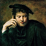 Parmigianino -- Portrait of a Man with a Book, Kunsthistorisches Museum
