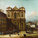 Bernardo Bellotto -- The Freyung in Vienna, as Seen from the Northwest, Kunsthistorisches Museum