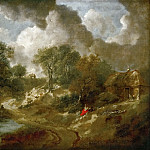 Thomas Gainsborough -- Landscape in Suffolk, Kunsthistorisches Museum