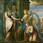 Andrea Schiavone -- Aeneas Taking Leave of Dido, Kunsthistorisches Museum
