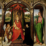 Hans Memling -- Triptych with the Virgin and Child Enthroned, Kunsthistorisches Museum