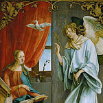 Hans von Kulmbach -- Annunciation, outer wings of an altarpiece, Kunsthistorisches Museum