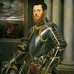 Jacopo Tintoretto -- Man with Gold-damascened Armor, Kunsthistorisches Museum