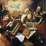 Kunsthistorisches Museum - Aertsen,Pieter -- The four evangelists, 1560-1565 Oakwood, 113 x 143 cm Inv.6812