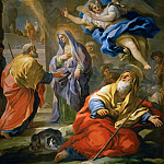 Luca Giordano -- Annunciation to Joachim and Meeting and the Golden Gate, Kunsthistorisches Museum