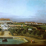 Kunsthistorisches Museum - Bernardo Bellotto (1721-1780) -- Schlosshof Castle, View from the Garden