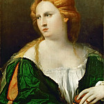 Jacopo Palma, il vecchio -- The Lady in the green dress, Kunsthistorisches Museum