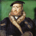 Corneille de Lyon -- Portrait of a Bearded Man with a Fur Coat, Kunsthistorisches Museum