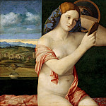 Kunsthistorisches Museum - Govanni Bellini - Naked Young Woman in Front of the Mirror