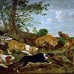 Paul de Vos -- Fox-hunt, Kunsthistorisches Museum