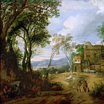Kunsthistorisches Museum - Peeter Snayers -- Mountain Landscape with Castle