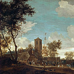 Salomon van Ruysdael -- Kermess under the Maypole, Kunsthistorisches Museum