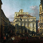 Bernardo Bellotto -- Old University Square in Vienna, Kunsthistorisches Museum