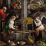 Kunsthistorisches Museum - Leandro Bassano (1557-1622) -- July (Spinning and Weaving)