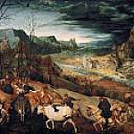 Kunsthistorisches Museum - Brueghel, Pieter The Elder -- Возвращение стада - ноябрь [The Return of the Herd] 1565, 117х159,