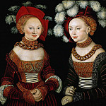 Kunsthistorisches Museum - Lucas Cranach the elder -- Princesses Sibylla, Emilia, and Sidonia of Saxony