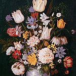 Ambrosius Bosschaert the Younger -- Still Life with Flowers, Kunsthistorisches Museum