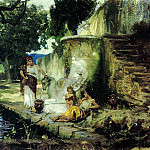 The scene at the well. 1890, Henryk Semiradsky