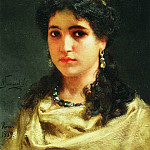 Portrait of a young Roman woman. 1889, Henryk Semiradsky
