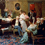 Chopin playing the piano in the salon of Prince Radziwill. 1887, Henryk Semiradsky