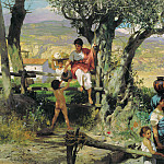 Henryk Semiradsky - Rome. Village. Canvas