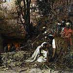 persecutors of Christians at the entrance to the catacombs. 1874, Henryk Semiradsky