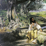Christ and the Samaritan woman. 1890. Canvas, Henryk Semiradsky
