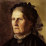 Henryk Semiradsky - Portrait of the artists mother. 1887