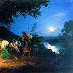 Night on the eve of Ivan Kupala. 1880, Henryk Semiradsky