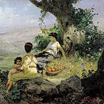 Vacation. 1890. Canvas, Henryk Semiradsky