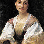 Portrait of a young Italian woman. 1875, Henryk Semiradsky